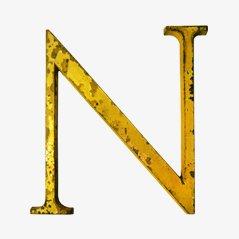 Lettre N en Laiton