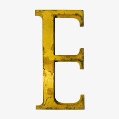 Brass Letter E