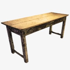 Esstisch aus Weichholz um 1920
