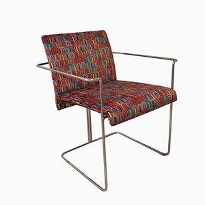 Esszimmerstuhl aus Stahl & Mikrofaserstoff von Guido Faleschini für Pace, 1970er