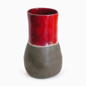 Red & Gray Vase par Henriëtte H. Jansen