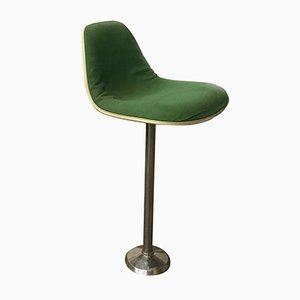 Taburete de bar de tela en verde de Charles & Ray Eames para Herman Miller, años 70