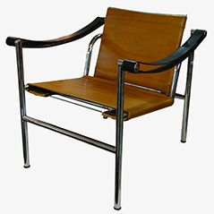 LC1 Armchair by Charlotte Perriand for Cassina, 1960s
