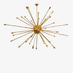 Mid Century Italian Sputnik Pendant Light, 1950s