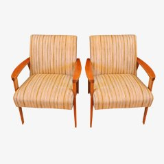 Mid-Century Italian Lounge Chair, 1950s, Set of 2