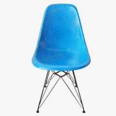 Türkiser DSW Stuhl von Charles & Ray Eames für Herman Miller, 1971