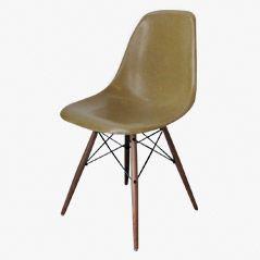 Senffarbiger DSW Stuhl von Charles & Ray Eames für Herman Miller