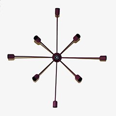 Sputnik 9-Armed Wall Lamp in Purple