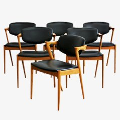 Chairs by Kai Kristiansen for Schou Andersen, Set of 6