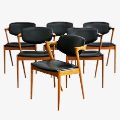 Chairs by Kai Kristiansen for Schou Andersen, Set of 6