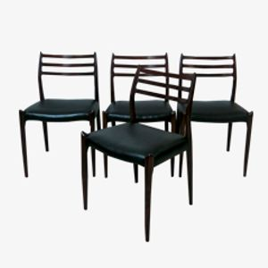 Dining Chairs by Niels O. Møller for J. L. Møller Møbelfabrik, 1960, Set of 4