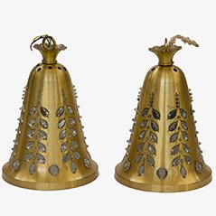 Lámparas colgantes Mid-Century de Rupert Nikoll, años 50. Juego de 2