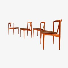 Juliane Dining Chairs by Johannes Andersen for Uldum Møbelfabrik, Set of 4