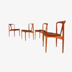 Juliane Esszimmerstühle von Johannes Andersen für Uldum Møbelfabrik, 4er Set
