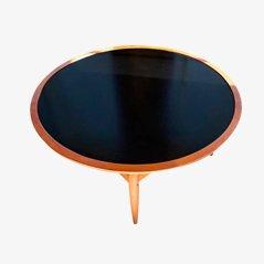 Tavolino da caffè in teak con ripiano ribaltabile di Ejvind A. Johansson per Ludwig Pontoppidan