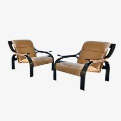 Woodline Sessel von Marco Zanuso für Arflex, 2er Set