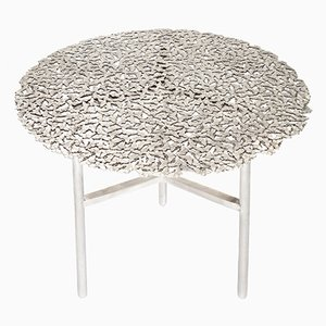 Jean Cast Butterfly Indoor or Outdoor Side Table in White Bronze by Fred & Juul