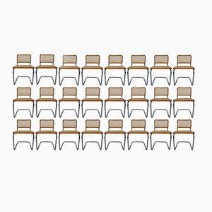 Cesca Esszimmerstühle von Marcel Breuer, 1970er, Set of 24