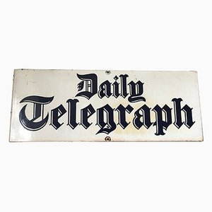 Enamel Daily Telegraph Newspaper Advertising Sign, 1950s