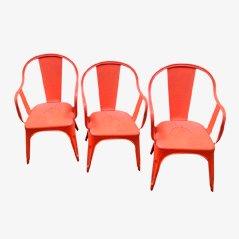 Chaise Vintage Industrielle Rouge par Xavier Pauchard pour Tolix