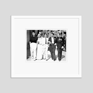 Ginger Rogers and Her Co-Stars in Swing Time Archival Pigment Print Framed in White by Everett Collection