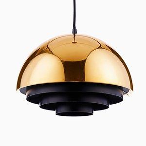 Lámpara colgante Milieu de latón de Jo Hammerborg para Fog & Morup, años 60