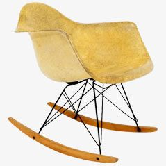 Vintage Rope Edge Rocking Chair von Charles & Ray Eames für Zenit, 1950er