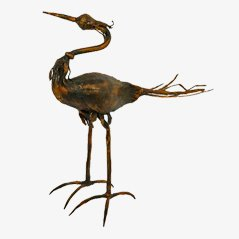 Vintage Italian Bird Sculpture by Salvino Marsura
