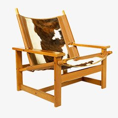 Cowhide Easy Chair by Scanform Medellin, 1970s
