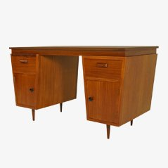 Tapered Teak Desk, 1950s