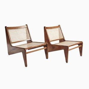 Kangaroo Stühle von Pierre Jeanneret, 2er Set