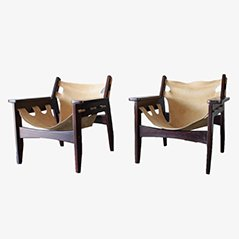 Kilin Armchairs by Sergio Rodrigues for OCA, 1973, Set of 2