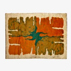 Scandinavian Pop Art Rya Rug by Ester Johansson for Unika Vaev, 1960s