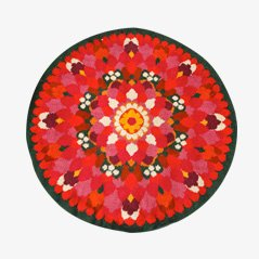 Round Pop-Art Rya Rug from Unika Vaev, 1960