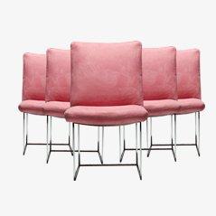 Chaises de Salon par Milo Baughman pour Thayer Coggin, Set de 6