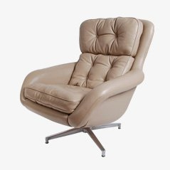 German Lounge Swivel Chair, 1960s