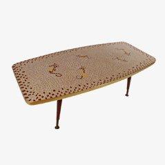Tavolino da caffè vintage con mosaico, anni '50