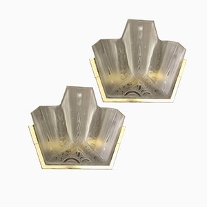 Wall Lights by Muller Frères, France, 1920s, Set of 2