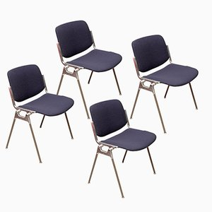 DSC 106 Chairs by Giancarlo Piretti for Castelli, 1970s, Set of 4