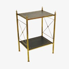 Vintage Bronze & Brass Side Table by Maison Jansen