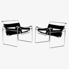 Wassily Chairs by Marcel Breuer for MYC GAVINA, Set of 2