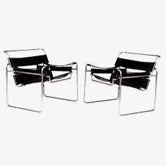 Wassily Stühle von Marcel Breuer für MYC GAVINA, 2er Set