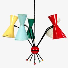 Lámpara colgante de Kobis & Lorence, años 50