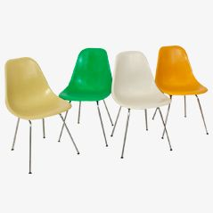 Side Chairs by Charles & Ray Eames for Herman Miller/Vitra, Set of 4