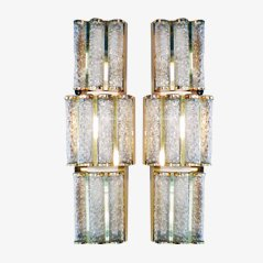 Murano Glass Sconces from Venini, 1970s, Set of 2