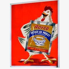 Cartel publicitario vintage de Royco Soup, años 50