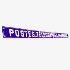 Französisches Schild Postes/ Télégraphes/ Phones