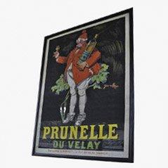 Póster de litografía vintage de Prunelle du Velay, 1922