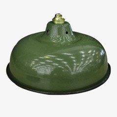 Lámpara colgante militar verde, años 50