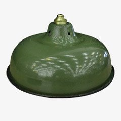 Lampe à Suspension Militaire Verte, 1950s